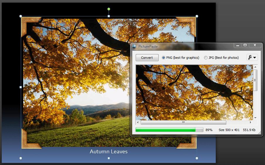 Using PicturePaste
