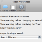 Advanced tab of the Preferences dialog
